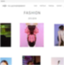 Plantilla de una página web de moda
