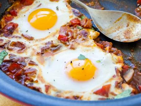 Baked Eggs with Chorizo