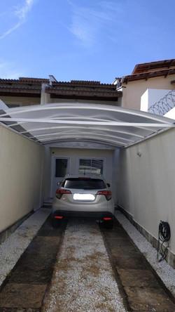abrigo para carro em alumínio