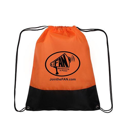 Official FAN Action Nation Drawstring Backpack (Orange & Black)
