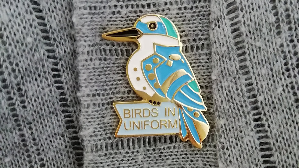 NZ Kingfisher Nelson collectable pin