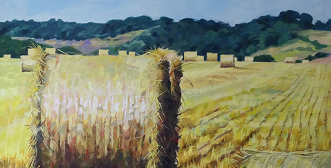 LANDSCAPE WITH BALES