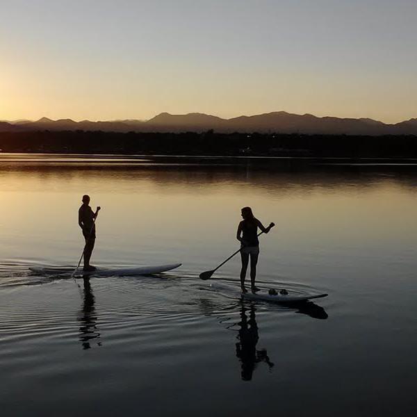 Sunset Paddle Boarding
