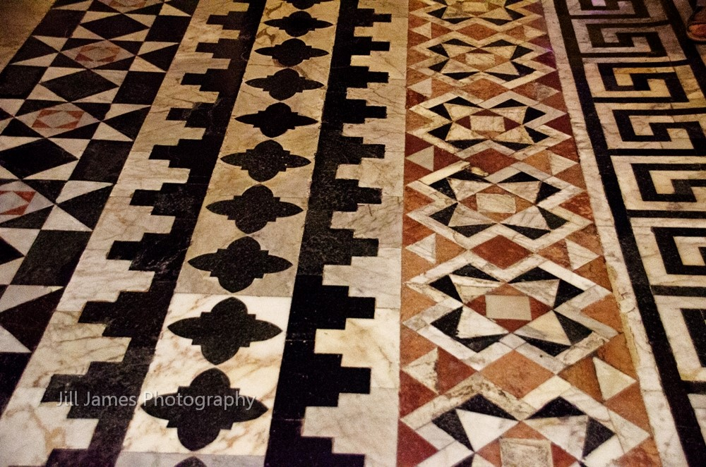 Geometric Floor Designs At The Cathedral