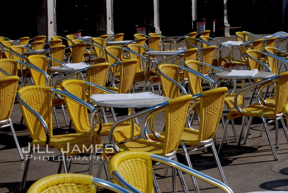 Yellow Chairs At St Mark's Square