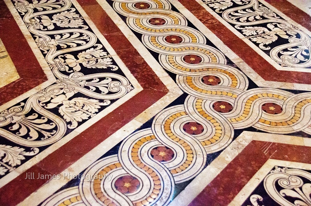 Swirling Floor Designs At The Cathedral