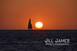 Sailing On The Agean At Sunset