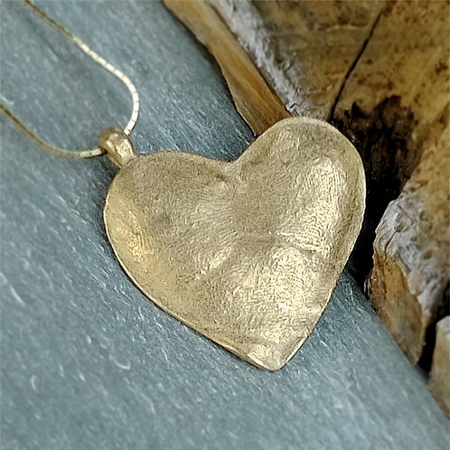 bronze keepsake heart