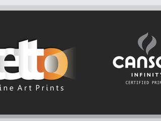 A Tetto Fine Art Prints é Certificada Canson