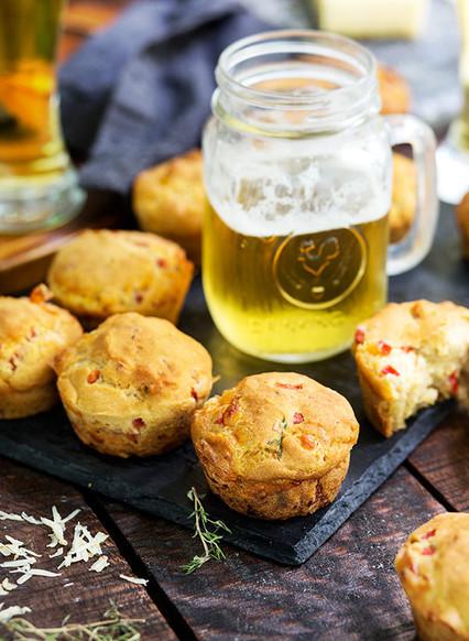 Gluten-Free Savory Beer Pimento Cheese Muffins