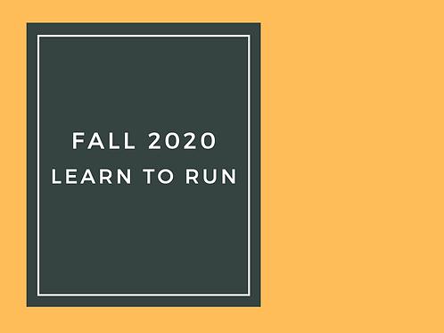 Learn To Run- Fall 2020