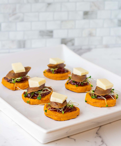 SWEET POTATO STACKS APPETIZERS