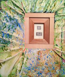 川邊真生 MANABU KAWABE 「Alt Tab」 oil on canvas, wood 530×455mm 2020 ¥100000(税抜)