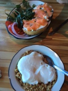 Organic oats and local yogurt