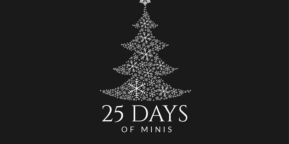 25 Days of Minis Webinar via Zoom