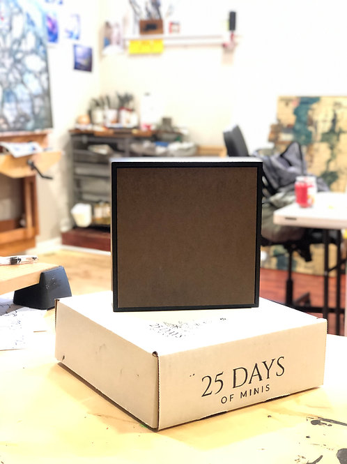 [25 Pack Bundle] 6in x 6in Boards, Black Float Frames + Shipping Boxes