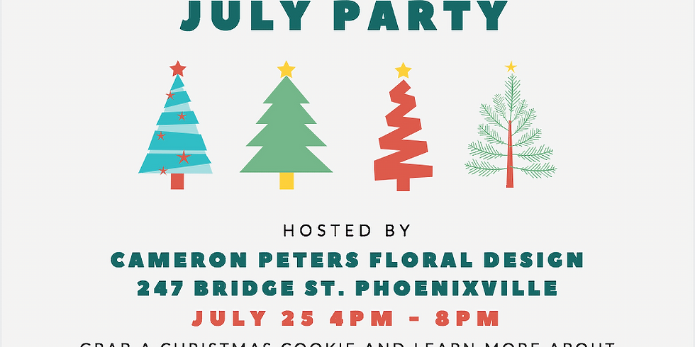 Christmas in July Hosted by Cameron Peters Floral Design (1)