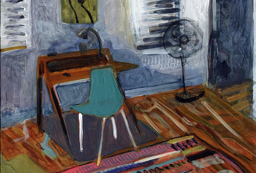 Untitled Painting (w: Blue Chair)