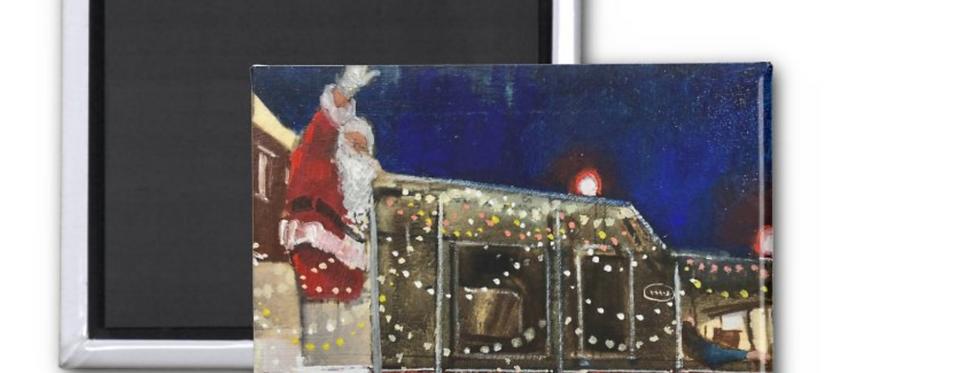 Santa's Coming Art Magnet
