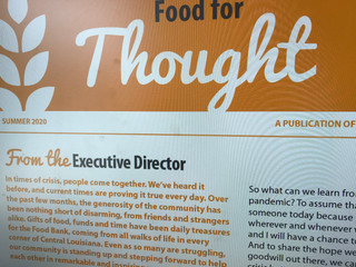 Summer 2020 Food for Thought Newsletter
