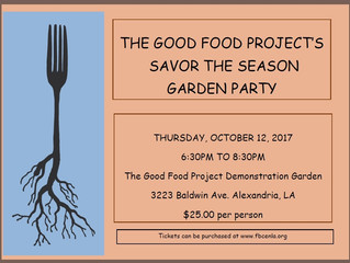 Good Food Project's Savor the Season Garden Party