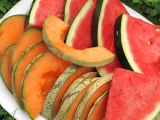 Cantaloupe and Watermelons