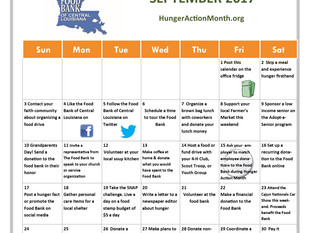 30 Ways in 30 Days. You can make a difference during Hunger Action Month.