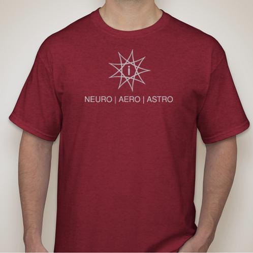 Brains, Planes, Stars T-Shirt (Heather Red)