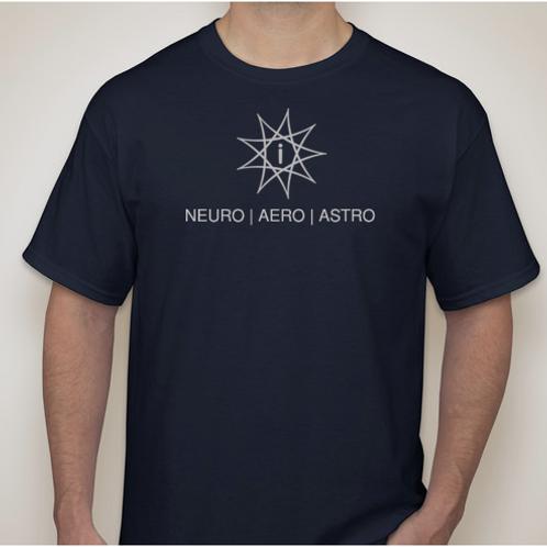 Brains, Planes, Stars T-Shirt (Navy)