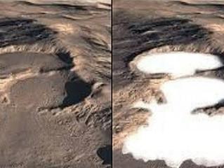 علماء يعثرون على أول بحيرة للمياه السائلة.. تحت جليد المريخ
