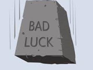 النحس وسوء الحظ