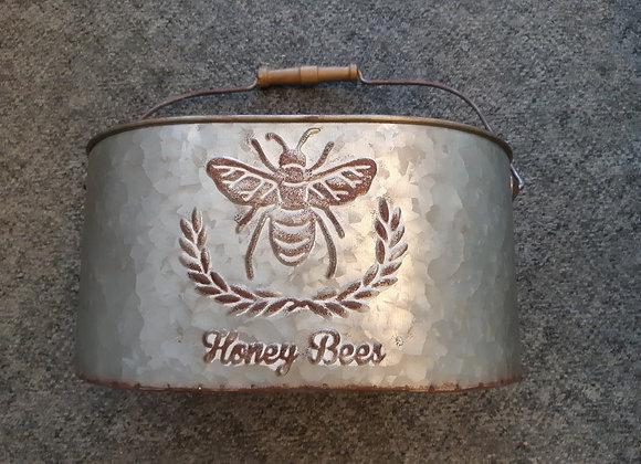 Galvanized Bee Caddy