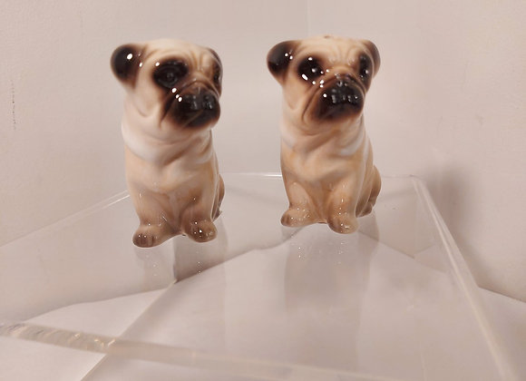Salt & Pepper Shakers-Pugs