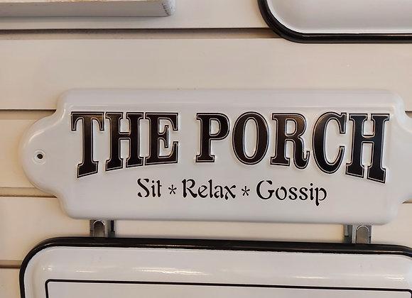 Metal Porch Sign