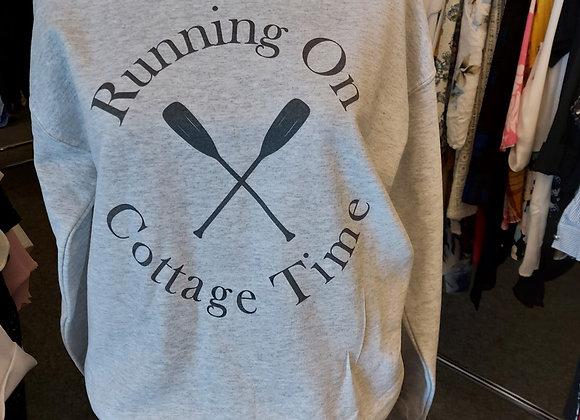 Sweatshirt-Running on Cottage Time