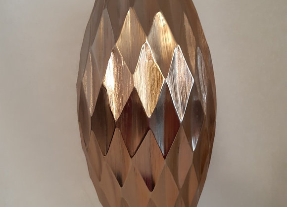 Copper Metal Geometric Vase
