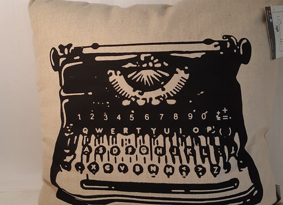 Vintage Style Typewriter Cushion