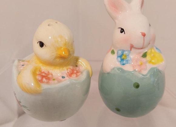 Salt & Pepper Shakers-Bunny & Chick