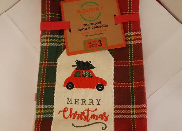 Holiday Tea Towels-Set of 3