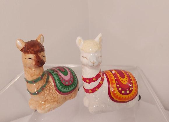 Salt & Pepper Shakers-Llamas