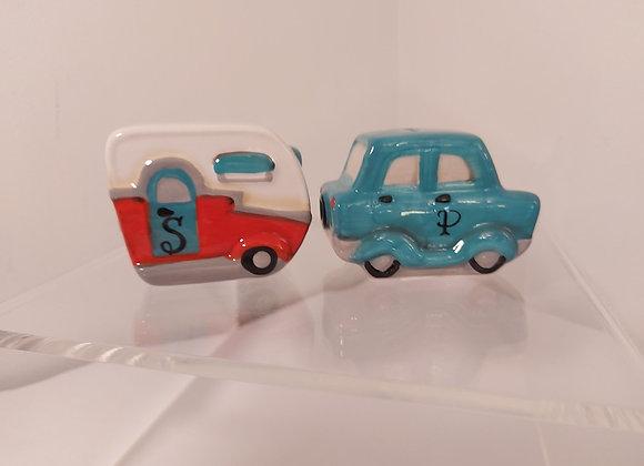 Salt & Pepper Shaker-Car & Trailer