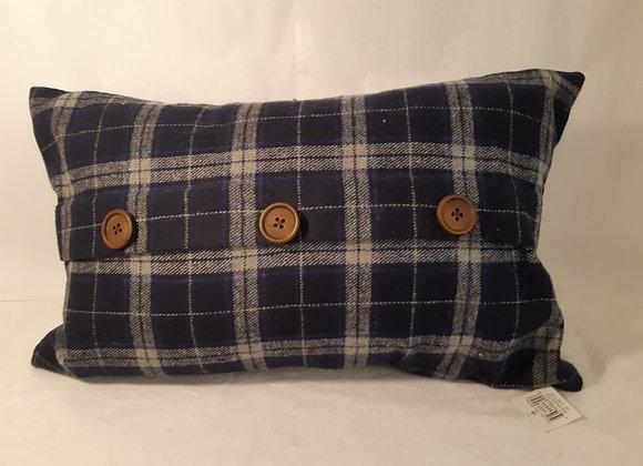 Navy & Grey Plaid Cushion