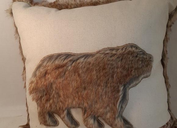 Furry Bear Cushion