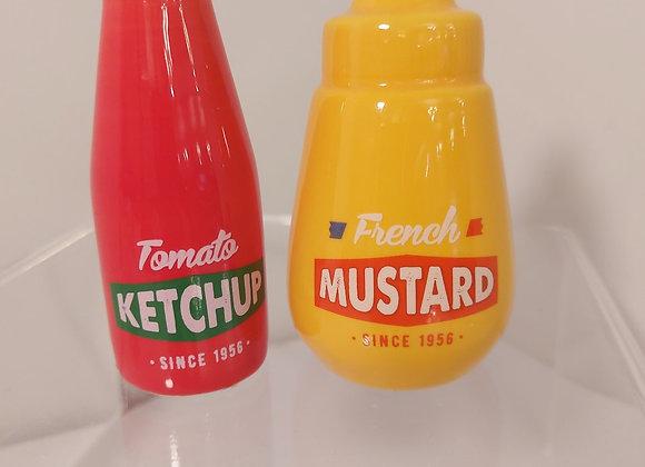 Salt & Pepper Shakers-Ketchup/Mustard