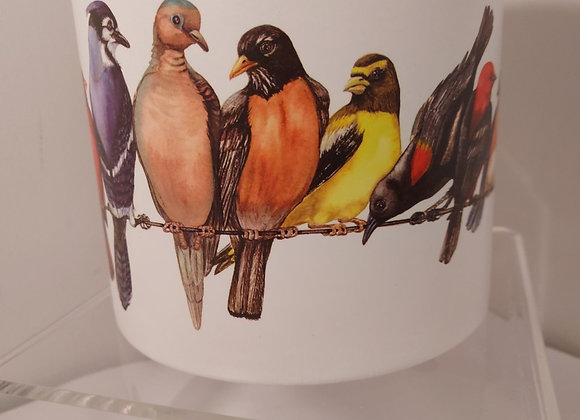 Planter-Large, Birds on  a Wire