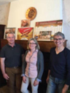 Laurence, Thierry et Didier Pelluau, co-gérants de la minoterie Pelluau en mayenne