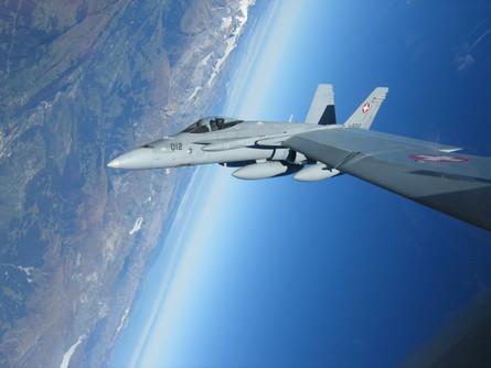 August: F/A-18 Flugbetrieb in Emmen