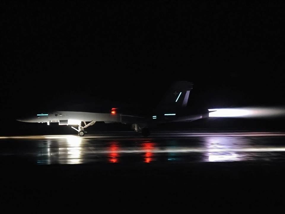 F/A-18 Full Afterburner on RWY
