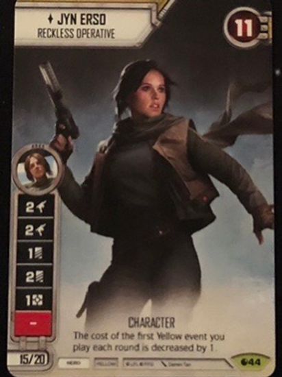 Jyn Erso FFG Alt Art Promo - 2017 Star Wars Celebration