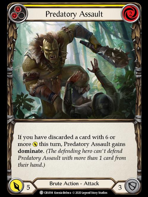 Predatory Assault (Yellow)